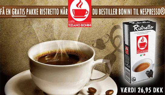 Tiziano Bonini 5,5 gram Italiensk espresso kaffe til Nespresso® af høj kvalitet.