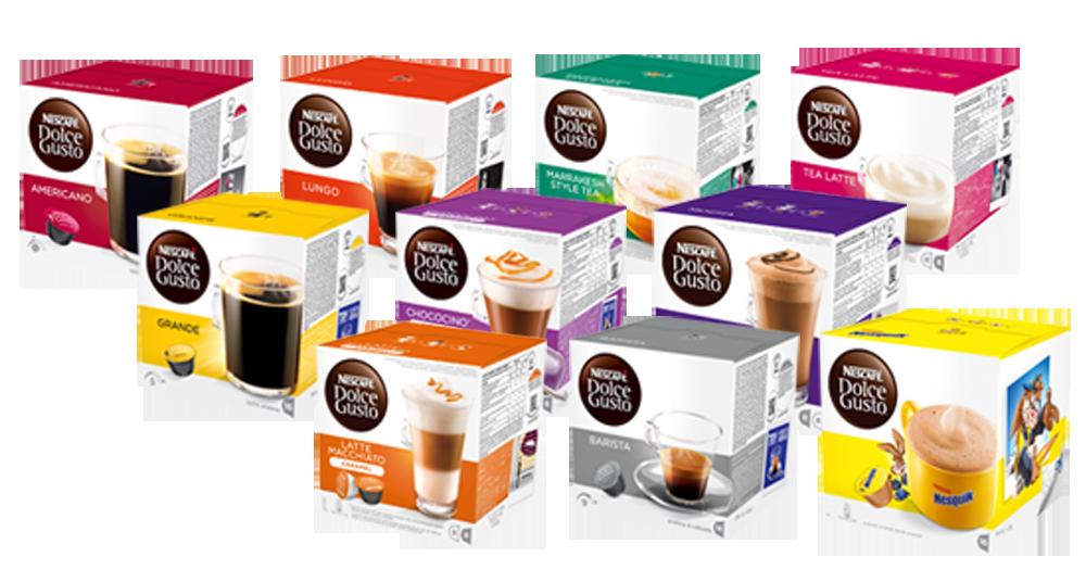 Dolce Gusto kaffe - kaffepuder, kaffekapsler, te, maskiner & tilbehør