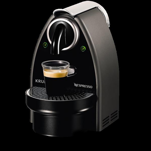 Nespresso® maskine - Krups XN-2125 Essenza titanium - Kaffekompagniet.com